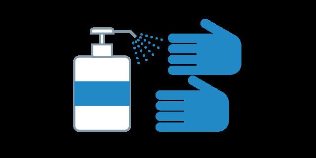 手指消毒の徹底及び奨励