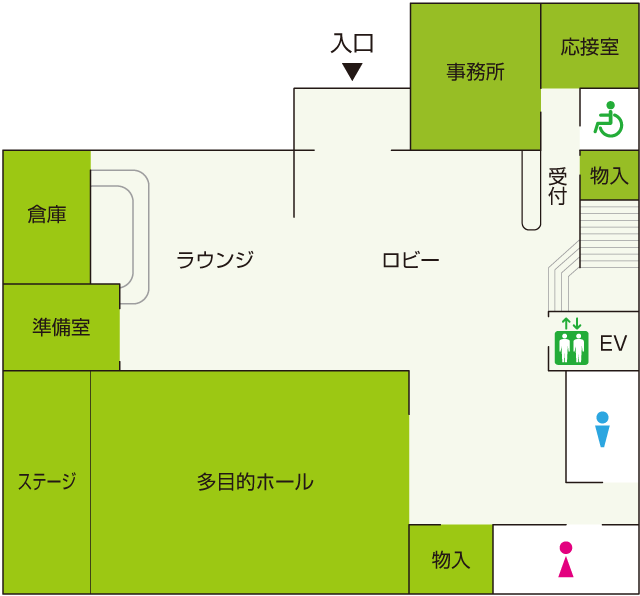 1階式場見取り図
