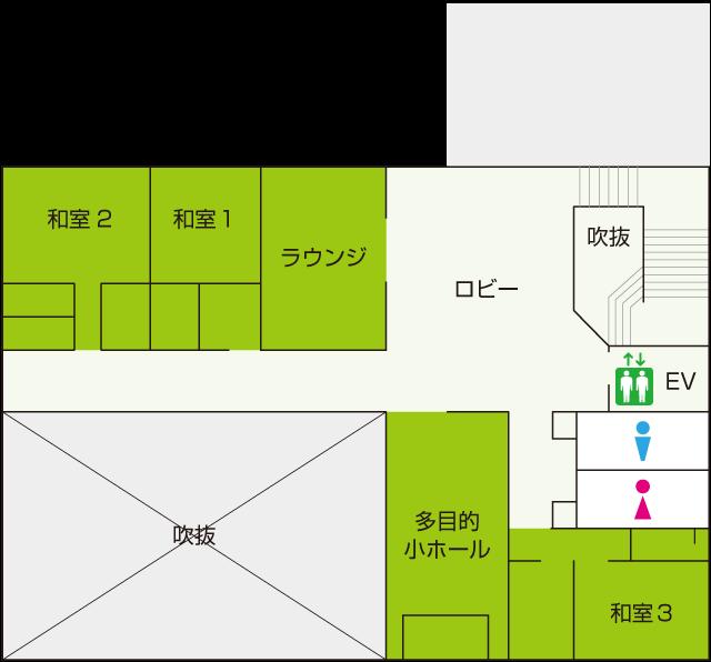 2階式場見取り図